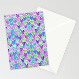 Watercolor mermaid scales Stationery Cards