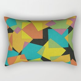 Playful Squares Rectangular Pillow