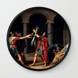 The Oath Of The Horatii - Digital Remastered Edition Wall Clock