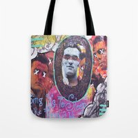 the smiths Tote Bags featuring Art is Murder//The Smiths by Art By MOP$