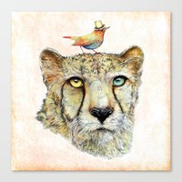 cheetah Canvas Prints featuring Cheetah by dogooder