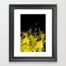 Yellow Flame on Black Framed Art Print