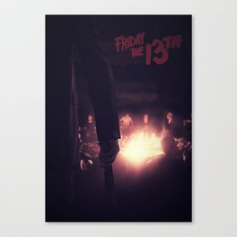'Friday the 13th' film poster Canvas Print