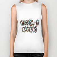 carpe diem Biker Tanks featuring Carpe Diem by Digi Treats 2
