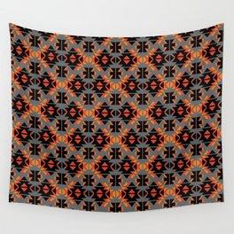 Reto Geometric in gray Wall Tapestry