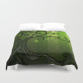 LEAVE - Summer Green Duvet Cover