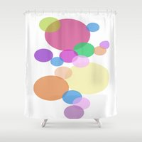 bubble Shower Curtains featuring Bubble by Angela Capacchione