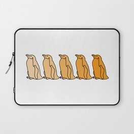 Waddle of Penguins in Gold Tones Laptop Sleeve