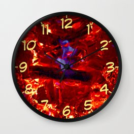 Faces of Fire Wall Clock