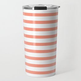 Seamless coral striped pattern on white Travel Mug