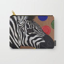 Zebra and Bubbles Carry-All Pouch