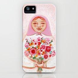 Matryoshka with flowers iPhone Case