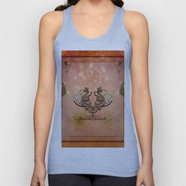 Decorative dragon with floral elements Unisex Tank Top