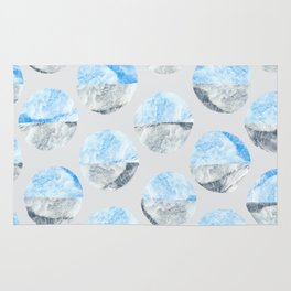 Feather Cloud Dot Pattern Rug