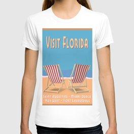 Florida Vintage Travel Poster T-shirt