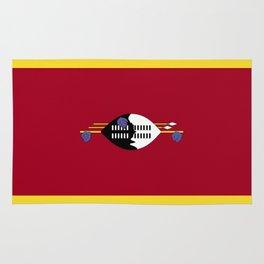 Swaziland flag emblem Rug