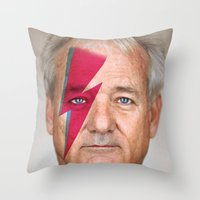 bill murray Throw Pillows featuring bill murray by lapinette