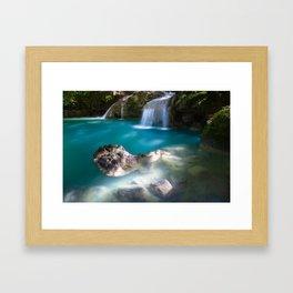 The Kawasan Falls, Cebu, Philippines Framed Art Print
