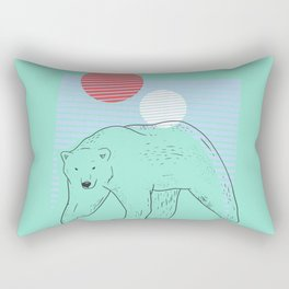 At The Pole - Pastel Mint Rectangular Pillow