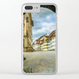 Wil Cityscape 1 Clear iPhone Case