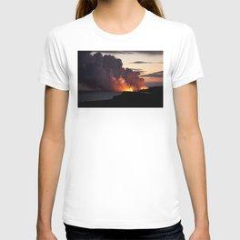 Lava Vaporizes Ocean T-shirt