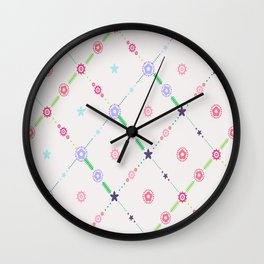 Itty-Bitty Floral Wall Clock
