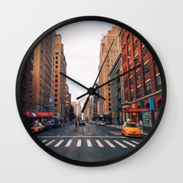 New York City - Summer in Chelsea Wall Clock