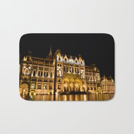 Parliament building in Budapest, capital of Hungary. Bath Mat