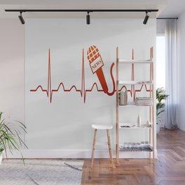 NEWSCASTER HEARTBEAT Wall Mural