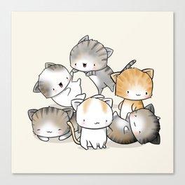 Cute Kitty Doodle Canvas Print