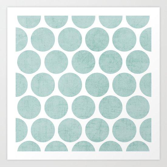 robins egg blue polka dots Art Print