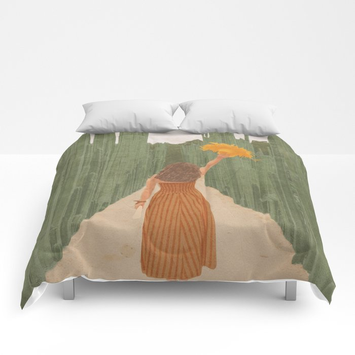 A Way Through the Cactus Field Comforters