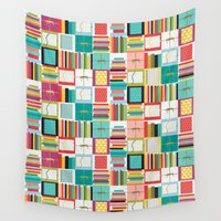 notebook Wall Tapestries featuring book joy by Sharon Turner