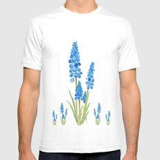 blue grape hyacinth  Mens Fitted Tee MEDIUM White