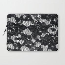 Double Black Lace Laptop Sleeve