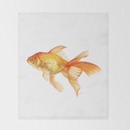 The Golden One Throw Blanket