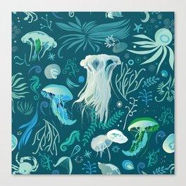 Aqua pattern Canvas Print