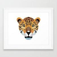 jaguar Framed Art Prints featuring Jaguar by James Boast