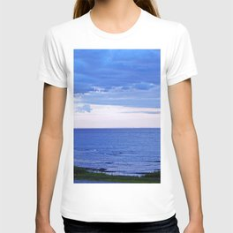 Blue on Blue at the River Mouth T-shirt