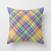 plaid Throw Pillows featuring Plaid by Lyle Hatch