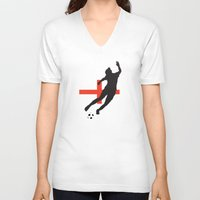 england V-neck T-shirts featuring England - WWC by Alrkeaton