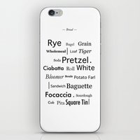 bread iPhone & iPod Skins featuring Bread by PintoQuiff