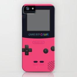 Game boy pink iPhone Case