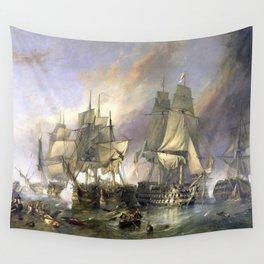 The Battle of Trafalgar Wall Tapestry