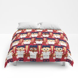 Baseball Red, White and Blue - Super cute sports stars Comforters