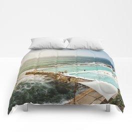 Bondi Icebergs Club | Bondi Beach Sydney Australia Ocean Coastal Travel Photography Comforters