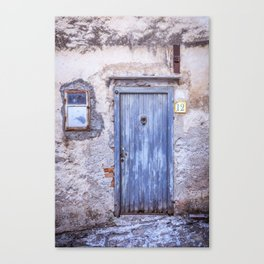 Old Blue Italian Door Canvas Print