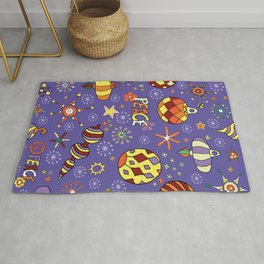 '70s peaceful retro Christmas pattern Rug