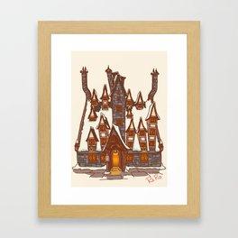 The three broomstick Framed Art Print
