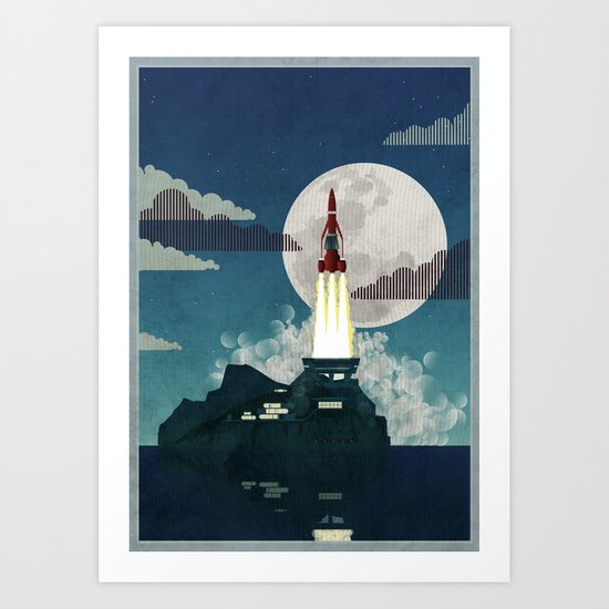 Tracy Island Art Print